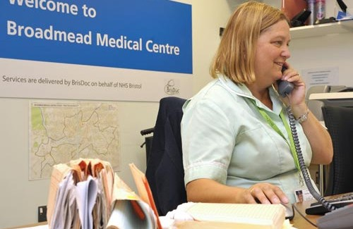 Receptionist for Broadmead Medical Centre, City Centre – Bristol