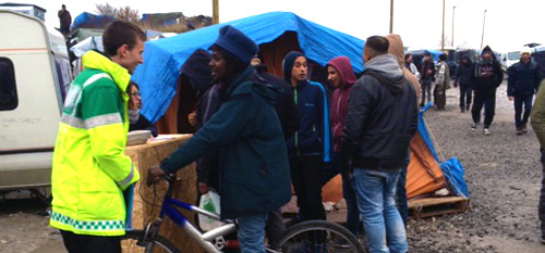 BrisDoc Community Fund visit Calais Refuge Camp