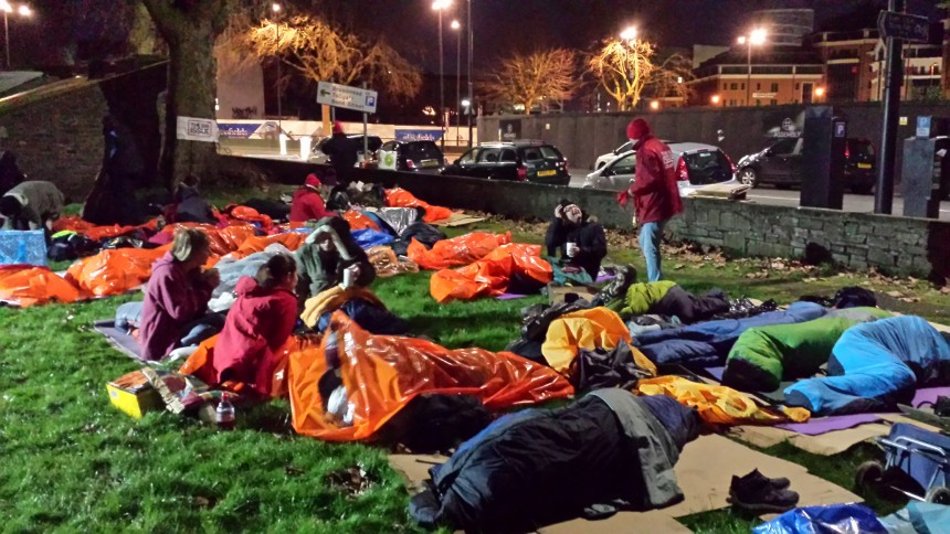 BrisDoc raise over £6000 for local homeless charity via the Sleepout 2017