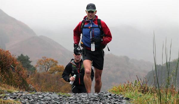 Chris Dykes Running The Green Man Ultra in aid of St Peter's Hospice
