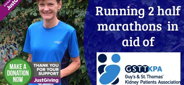 Liz Turner: Raising money for Guy's & St. Thomas' Kidney Patients Association