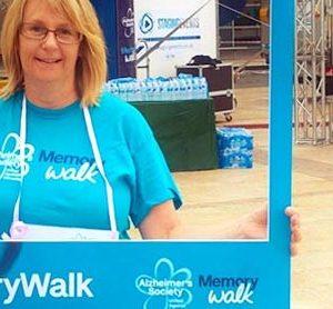 Val Rodrigues completes Memory Walk 2018