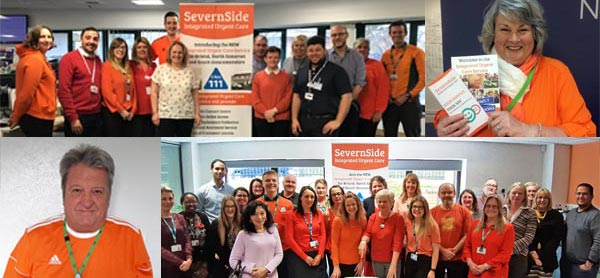 Going Orange for the launch of our new SevernSide Integrated Urgent Care Service