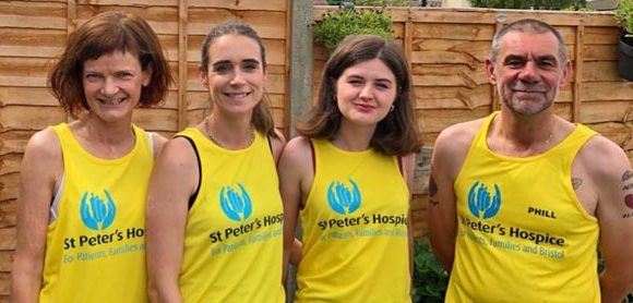 Team Members from Charlotte Keel Medical Centre raising money for St Peter's Hospice